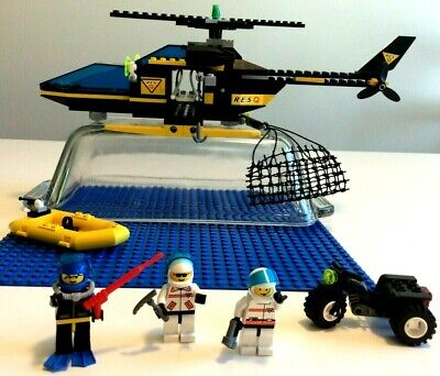LEGO 6462 RES-Q AERIAL RECOVERY-100% COMPLETE w/BOX & MANUAL+ BONUS 32x32 PLATE