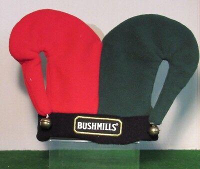 Red Green Beige Black Jokers Jester Costume Hat Bushmills - Red Black Jester Hat
