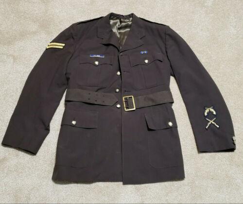Obsolete Vintage Brown Serge RCMP Uniform Jacket Royal Canadian Mounted Police