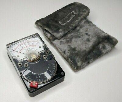 Triplett Model 310 Vom Multimeter W Fur Pouch - Voltmeter Vintage