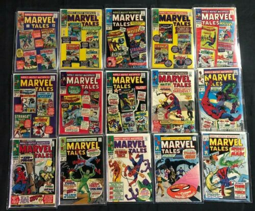 MARVEL TALES  - LOT OF 27 ISSUES SILVER AGE (F- to VF)
