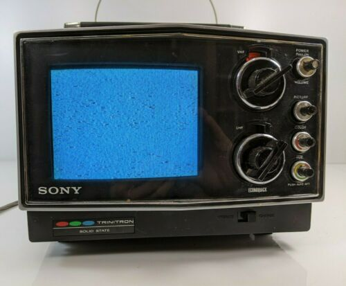 "Sony Trinitron Solid State Kv-5100 Tv Portable 5"" Screen Japan Color Vintage"