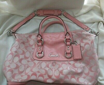 Coach Authentic Shoulder Handle Bag Purse Pink