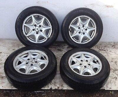 Mercedes C Class Alloy Wheel SET 15 Inch A2034010102 W203 2004 One Alloy Damaged for sale  London