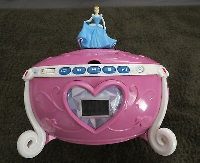 Disney Princess Jewelry CD Boombox - Colors: Pink / White / Blue - Collectible Disney Princess Cd Boombox