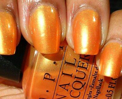 OPI Nail Polish Lacquer Enamel Varnish B41 Totally Tangerine shimmer 15ml  NEW!