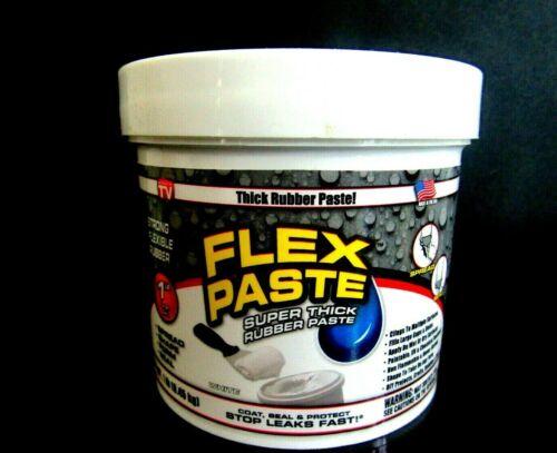Flex Seal Paste WHITE Thick Rubber Paste 1 lb Jar
