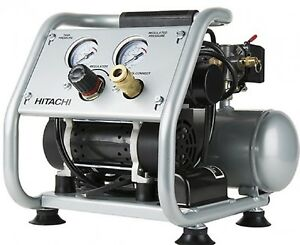 Hitachi EC28M Ultra-Quiet Oil-Free Portable 1-Gallon Air Compressor New Retail.