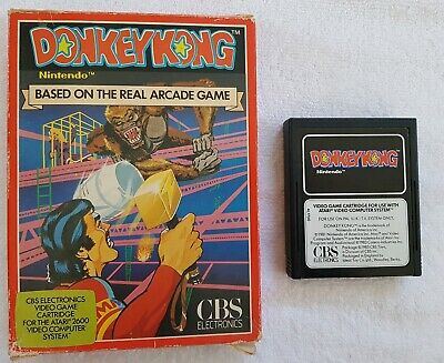 Donkey Kong 1981 Vintage Atari 2600 Video Game BOXED NO MANUAL