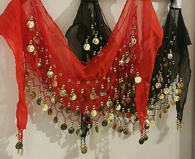 Bauchtanz Schal Rock Gürtel Tanz Kostüm mit Goldmünzen - Arabische Bauchtanz Kostüme