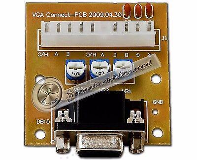 CGA to VGA or VGA to CGA Adapter CGA/VGA VGA/CGA Arcade Monitor Converter
