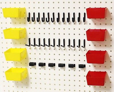 Wallpeg Pro 100 Shelf Peg Hanger Kit Garage Storage Pegboard Hanging Set 38rybx