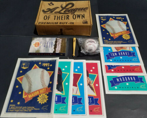 Madonna A League Of Their Own Promo Box Columbia Video VHS Signed Baseball Hanks