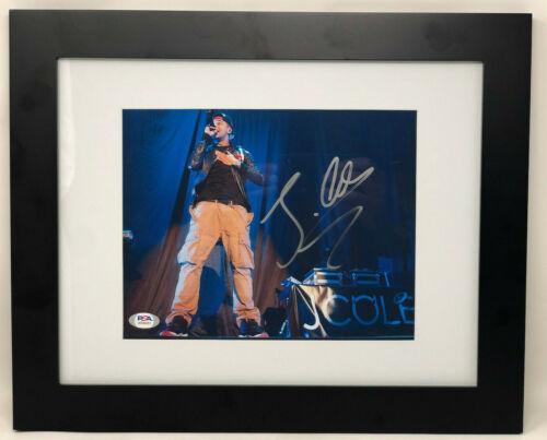 PSA/DNA Rapper J COLE Signed Autographed FRAMED & MATTED 8x10 Photo JERMAINE