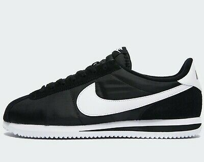 ⚫ 2020 Latest Nike Cortez Basic Nylon ® ( Men Sizes UK : 7 - 12  ) Black / White
