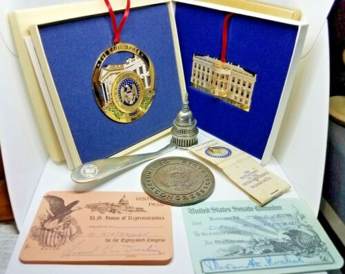 US House of Representatives/ Senate pass/ 1996/ White House Ornaments/ Coin