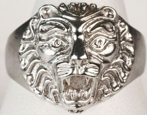 Ring STERLING Silver 925 Tiger LION Animal GIFT Brutal JEWELRY Ukraine 6.5g 10.5