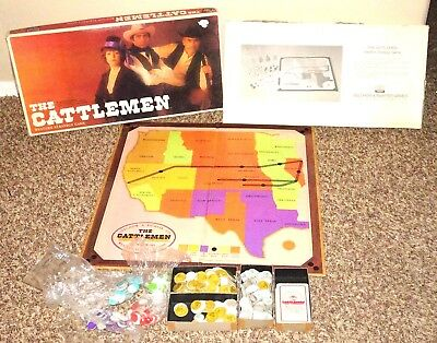 The Cattlemen 1977 Selchow & Righter Board game Western Theme Strategy Game - Western Theme Games