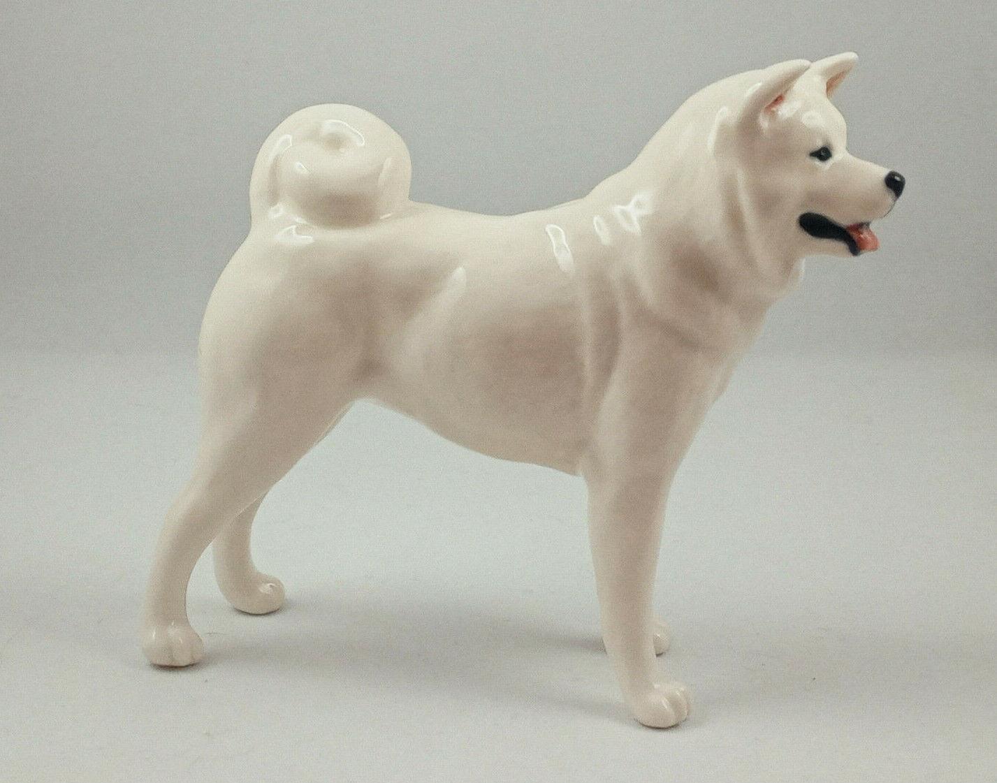 Akita White Akita Porcelain Dog Figurine Russian ...