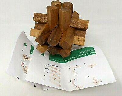 Siam Mandalay Handmade 3D Wooden Brain Teaser Puzzle Adults