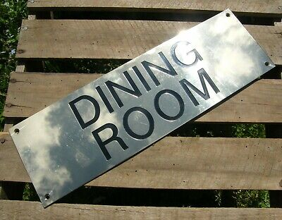VERY LARGE VINTAGE RECLAIMED SOLID BRASS ENAMEL PUB SIGN PLAQUE