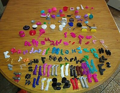 Barbie/Monster High shoes and accessories lot