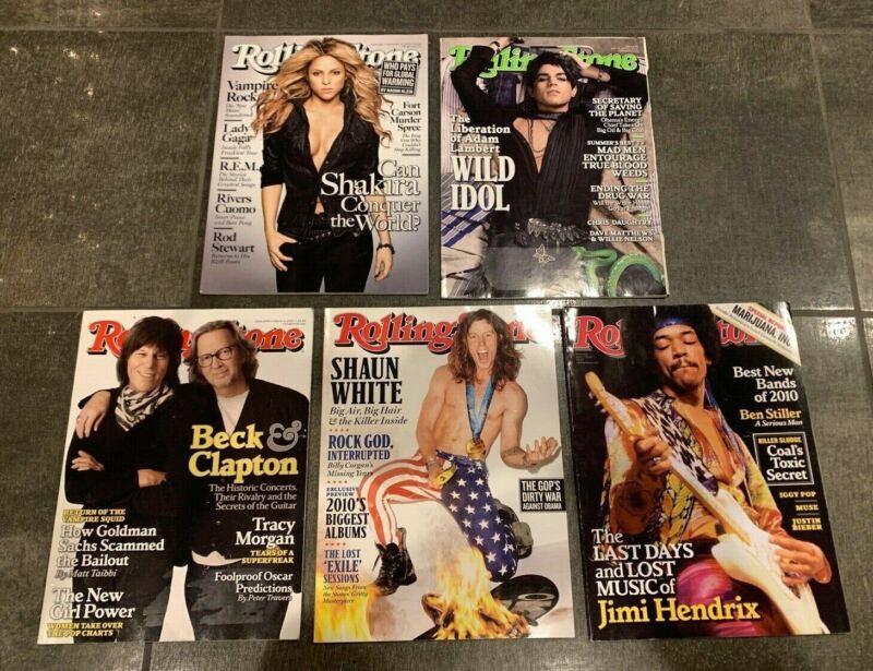 Lot (5)  Rolling Stone Magazine Jimi Hendrix March April 2010 November June 2009