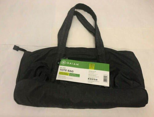 Yoga Mat Bag All Day Tote Bag Gray Nylon New With Tags Gaiam