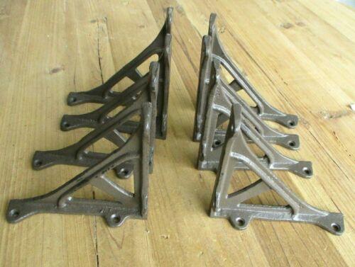 8 Cast Iron ANGLE Brackets Garden Braces Shelf Bracket Corbels Rustic Shelf
