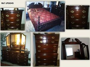 8 Pc Kincaid Carriage House Solid Cherry Wood Bedroom Set Lpe6545