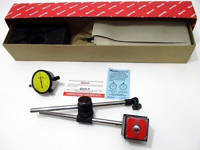 Starrett 657me Magnetic Base Holder Set With 25-181j Metric Dial Indicator 56357