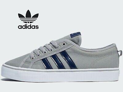 ⚫ 2020 Latest Adidas Originals Nizza Lo ® ( Men Size UK:  8 10 11 ) Solid Grey
