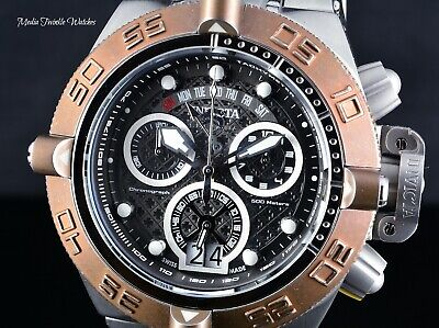 Invicta 50mm Subaqua Noma IV SWISS MADE Chronograph DISTRESSED Brown BEZEL Watch