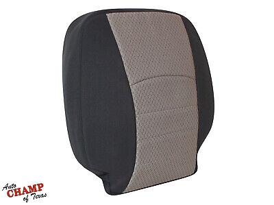 2009 2010 2011 12 Dodge Ram 1500 SLT-Driver Side Lean Back Cloth Seat Cover Gray