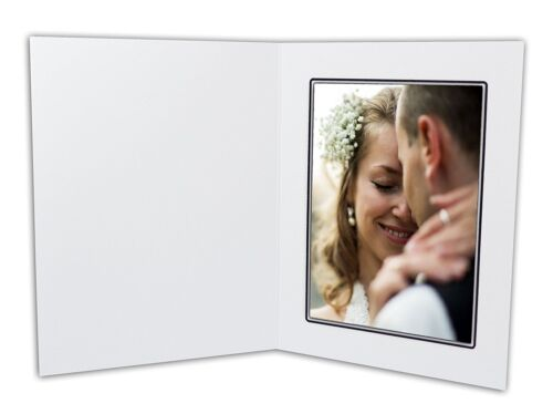 Golden State Art, Cardboard Photo Folder For a 5x7 Photo (Pack of 50) GS001 Whit