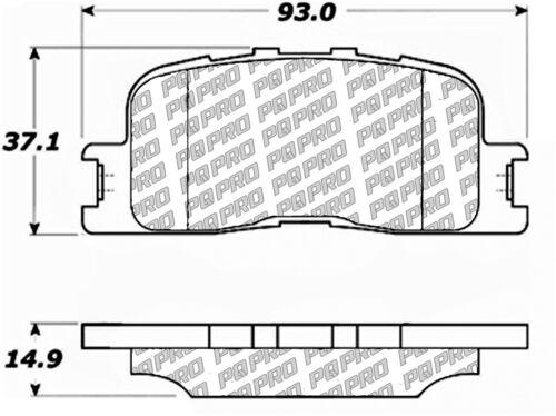 Disc Brake Pad Set fits 2001-2003 Toyota Highlander