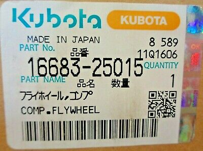 Brand New Kubota Flywheel 1668325015 16683-25015 16683-2501-5