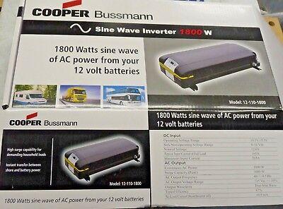 COOPER BUSSMANN EATON EA1800 Watt AC Power Inverter 12V semi truck 12-110-1800  1800 Watt 12v Inverter