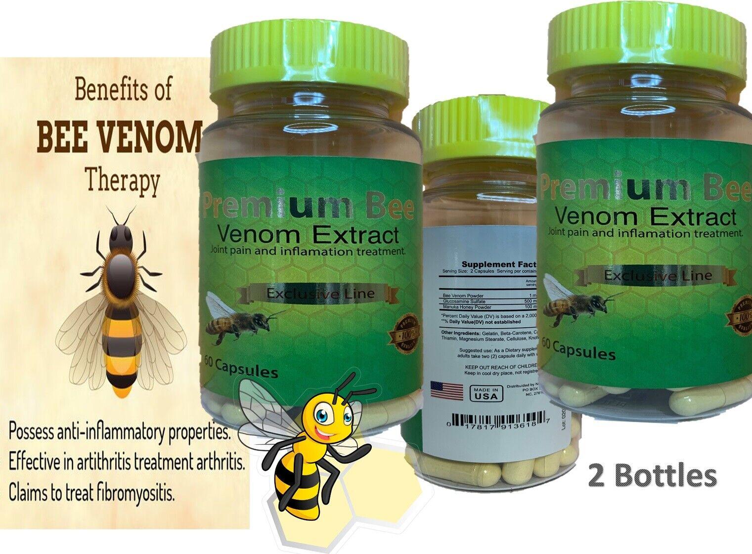 Premium 2 Bee BIOBEE inflamatory Arthritis Pain abeemed therapy Venom veneno bee 3
