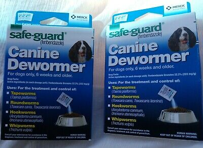 2 Boxs DOG SafeGuard fenbendazole Canine Dewormer (8 in 1)