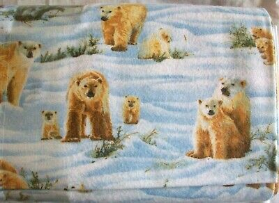 #606 New Flannel Fabric BTY ; 2 Yards (pick size) Photo real polar -