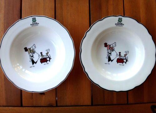 "Set of 2~ Andersen Pea Soup Restaurant Ware 9"" Flat Soup Bowls, Syracuse China"