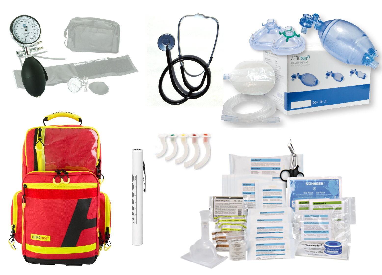 Notfallrucksack AEROcase RPL gefüllt MED-Söhngen (ArztPraxis Feuerwehr DIN 13157
