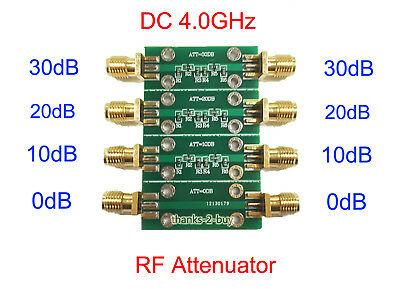 23dbm Dc 4.0ghz Rf Fixed Attenuator Sma Double Female Head 0db 10db 20db 30db