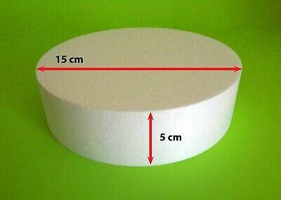 Styroporscheibe Ø 15 x 5 cm Torte Sockel Set Dummy Hochzeit Cake Grundlage Rund