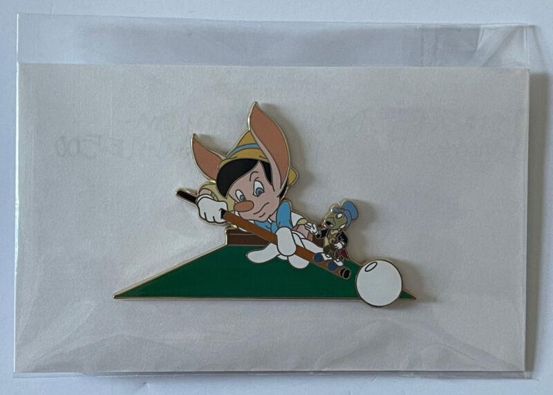 Disney Shopping LE 500 Pinocchio Playing Billiards Jumbo Pin