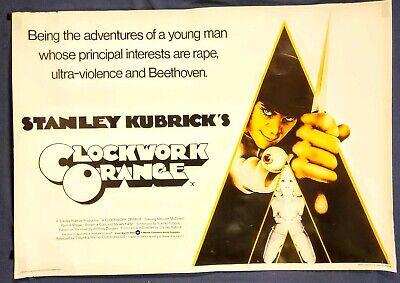 Vintage Movie Poster A CLOCKWORK ORANGE STANLEY KUBRICK 1971 BRITISH QUAD