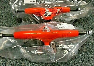 "NIB GULLWING SUPER PRO III 3 Skateboard Trucks 159mm Hanger,9"" Axle, Orange Pair"