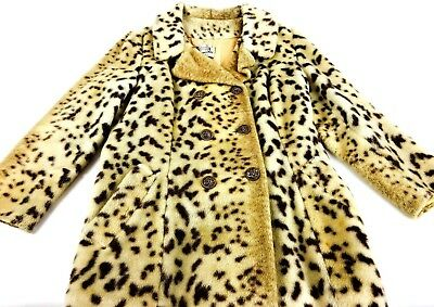 Vintage Leopard Jacket 1970s High Fashion Winter Jacket Long Winter Commuter 70s
