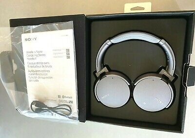 SONY MDR-XB950N1-WIRELESS BLUETOOTH CANCELLING HEADPHONES-TITANIUM-BASS BOOSTER